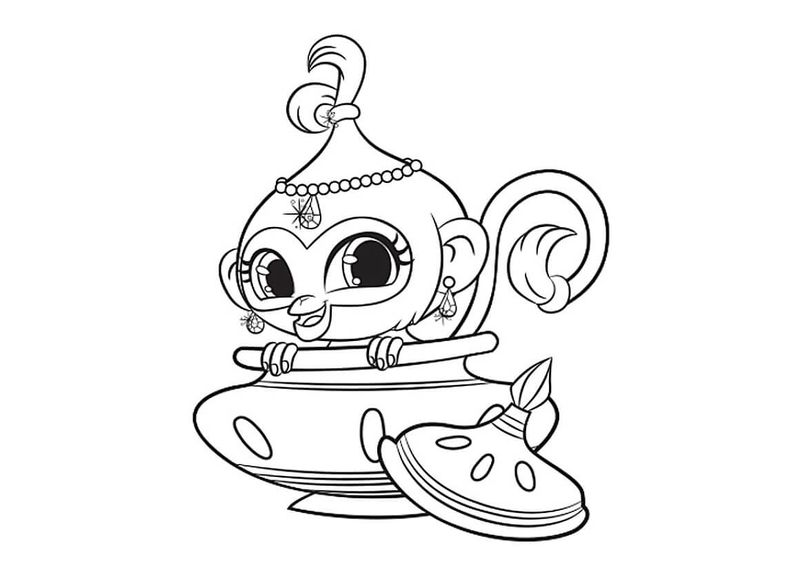 shimmer and shine coloring pages free
