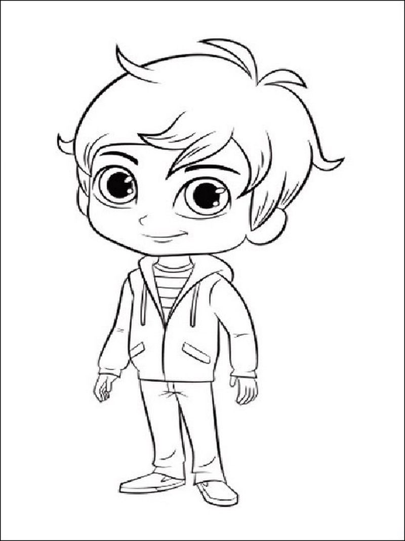 shimmer and shine coloring pages zach