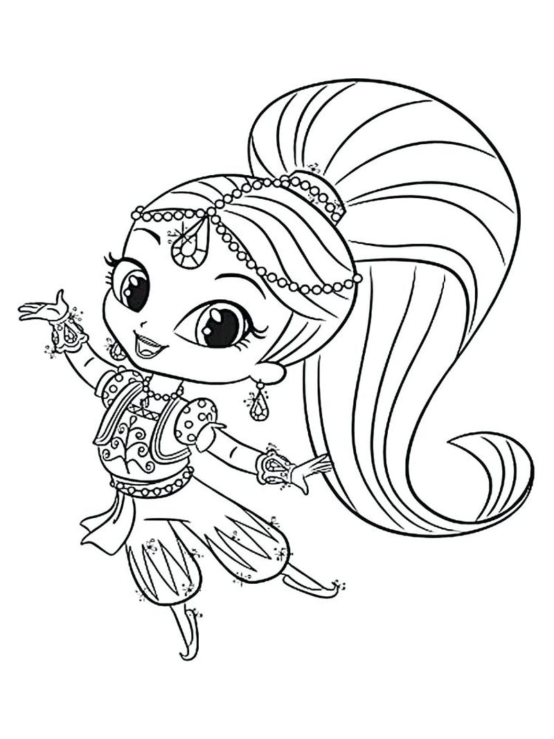 shimmer and shine mermaid coloring pages