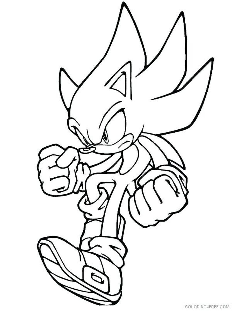 sonic coloring pages for kids