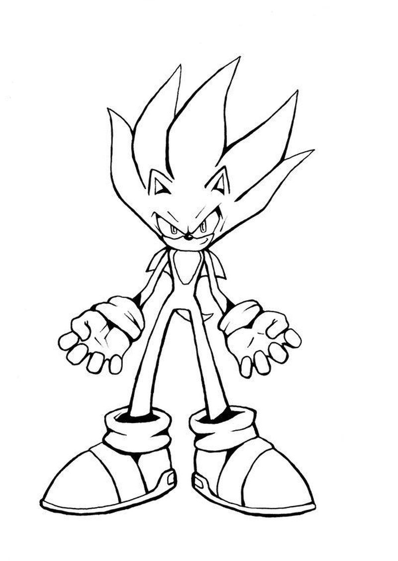 sonic coloring pages free