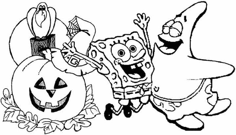 spongebob coloring pages halloween