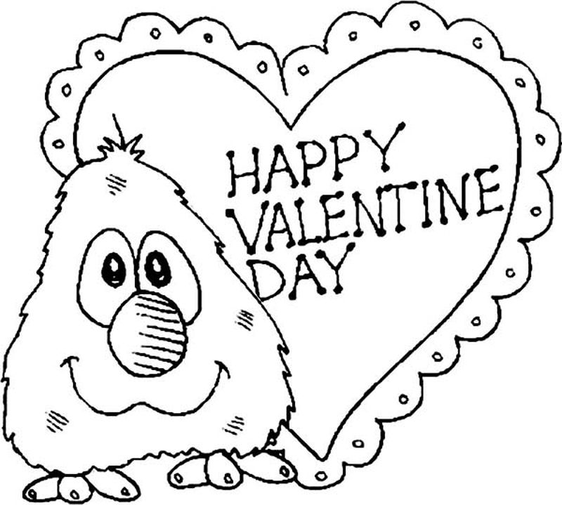 valentine cartoon coloring pages free