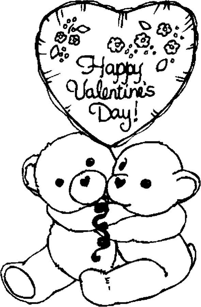 valentine coloring pages for children