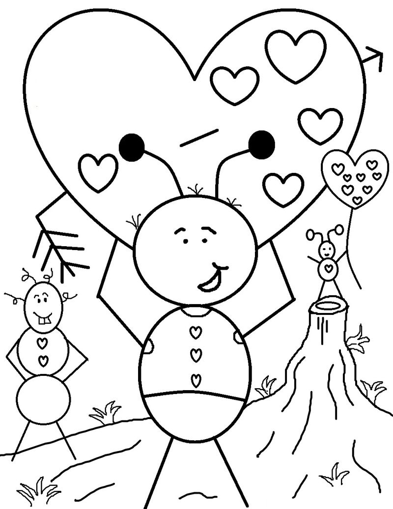valentine coloring pages for preschool free