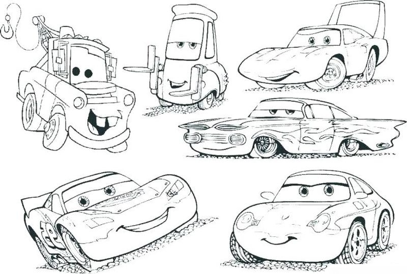 3 Cars Coloring Pages free