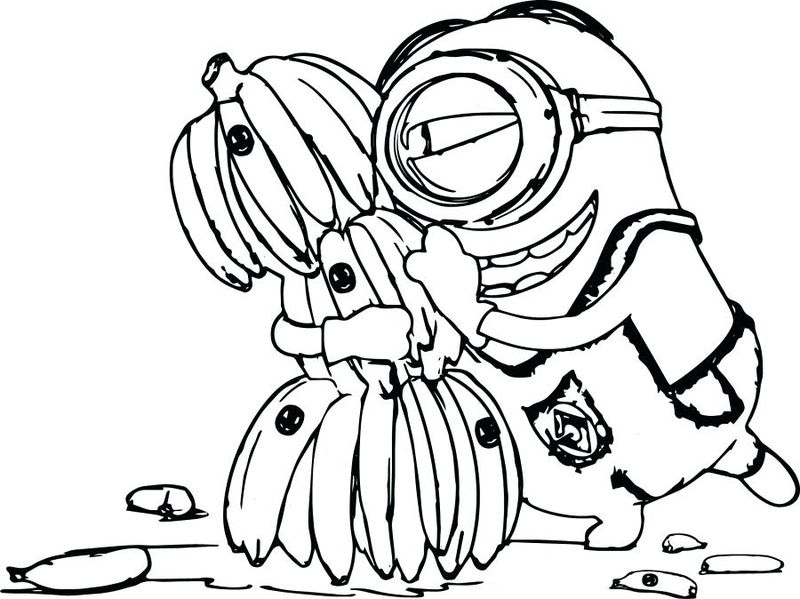 3d Coloring Pages Minions Free
