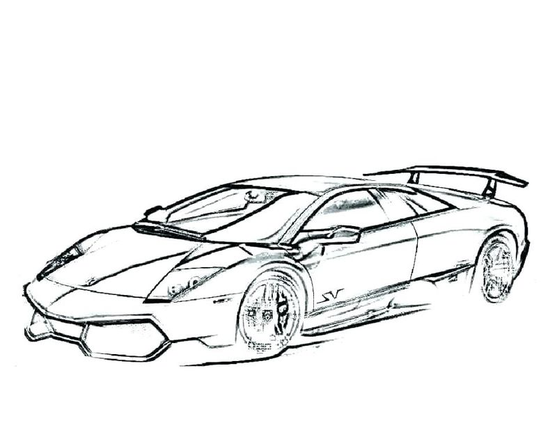 Adult Coloring Pages For Lamborghini Free