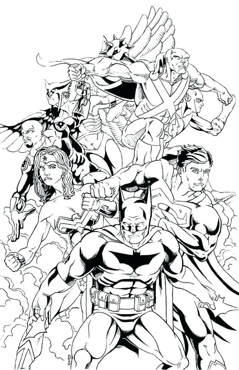 Adult Coloring Pages Justice League