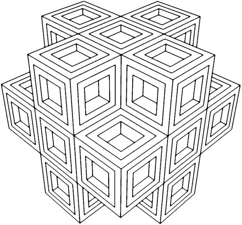 Advanced Geometric Coloring Pages free