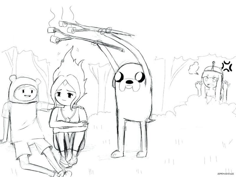 Adventure Time Coloring Pages Flame Princess Printable