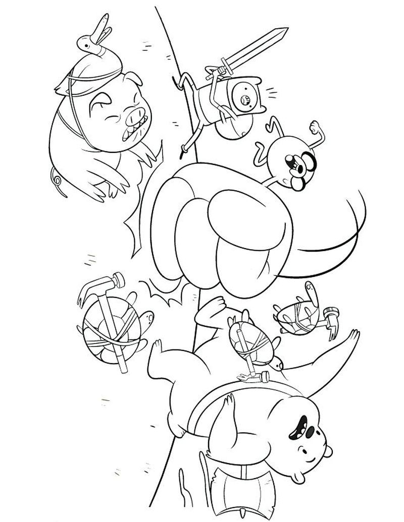 Adventure Time Coloring Pages Free Printable