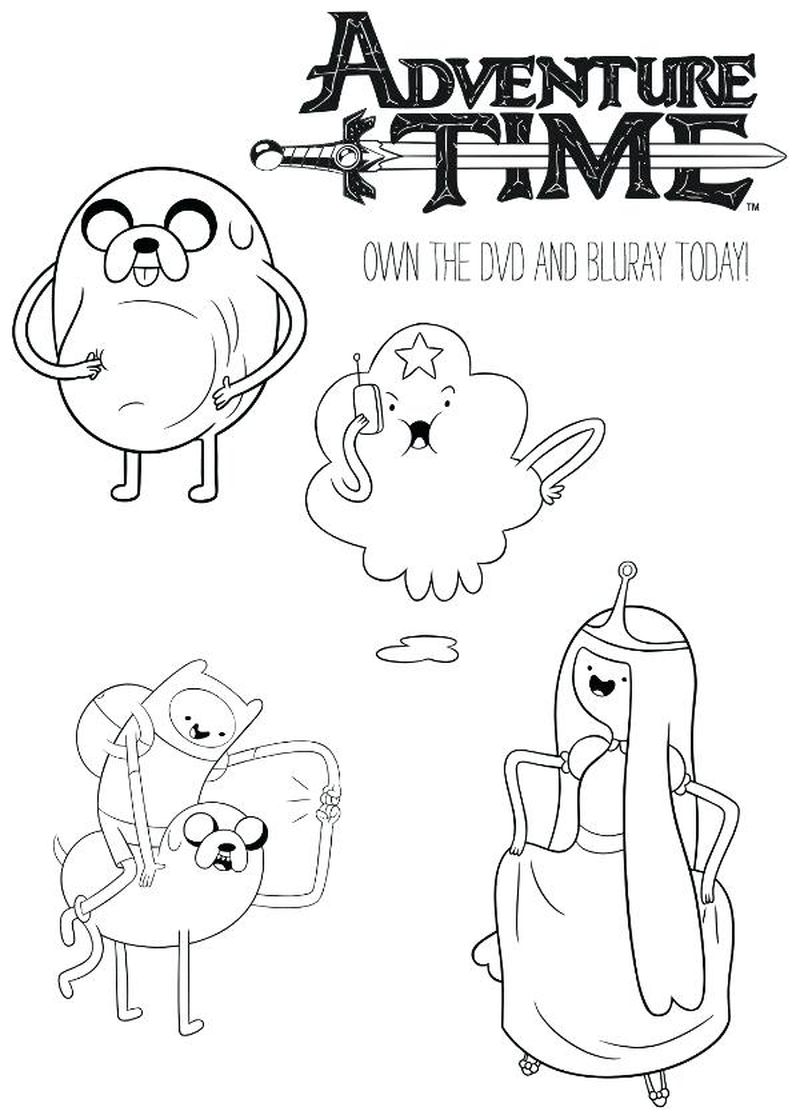 Adventure Time Flame Princess Coloring Pages Printable
