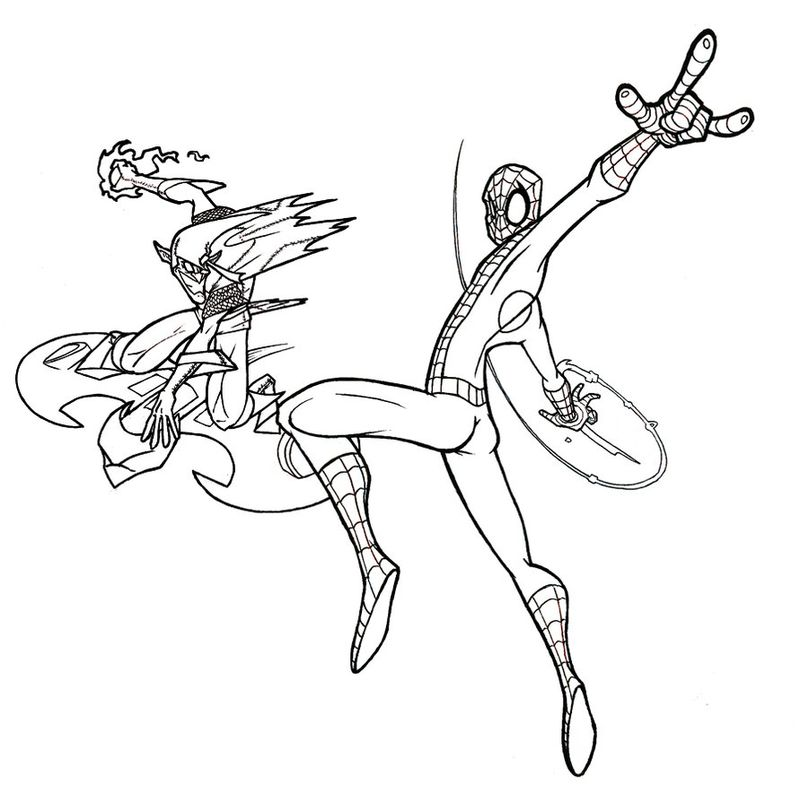 All Spiderman Coloring Pages