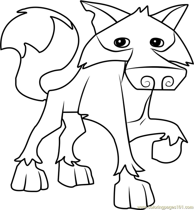 Animal Jam Coloring Pages Arctic Wolf Free