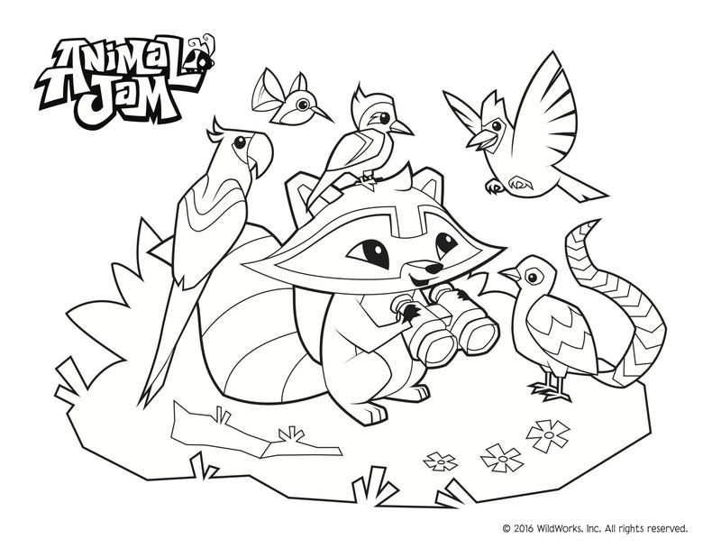 Animal Jam Coloring Pages To Print Free