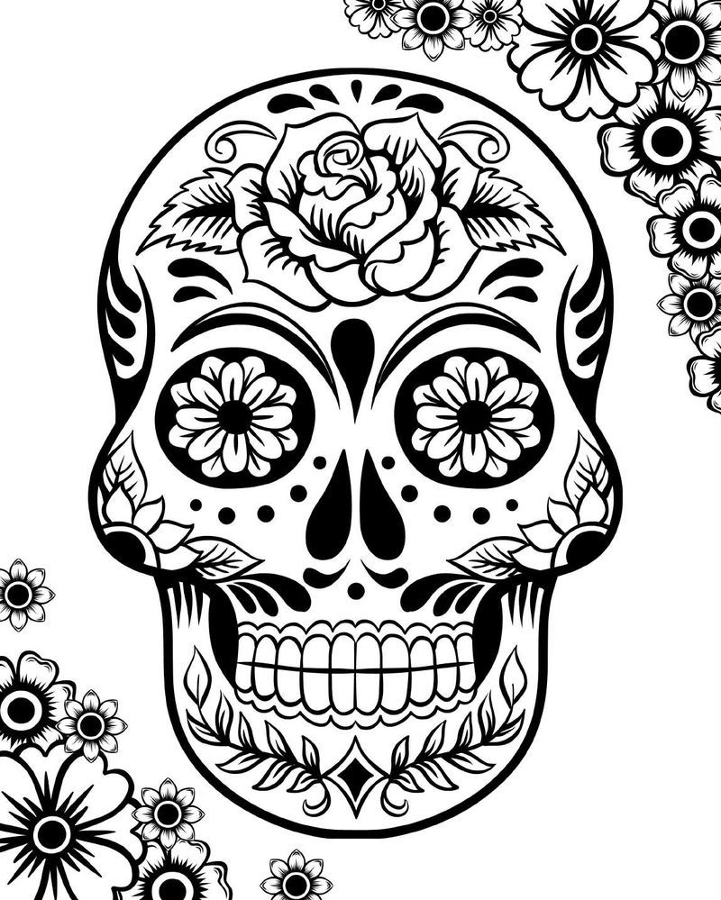 Animal Sugar Skull Coloring Pages