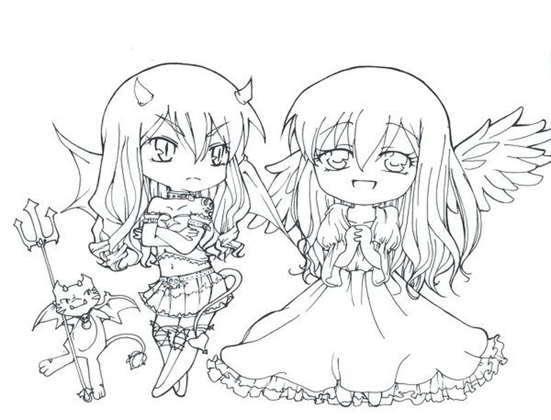 Anime Chibi Coloring Pages Princesses free