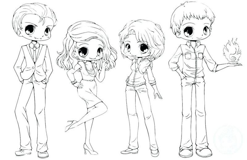 Anime Chibi Coloring Pages free
