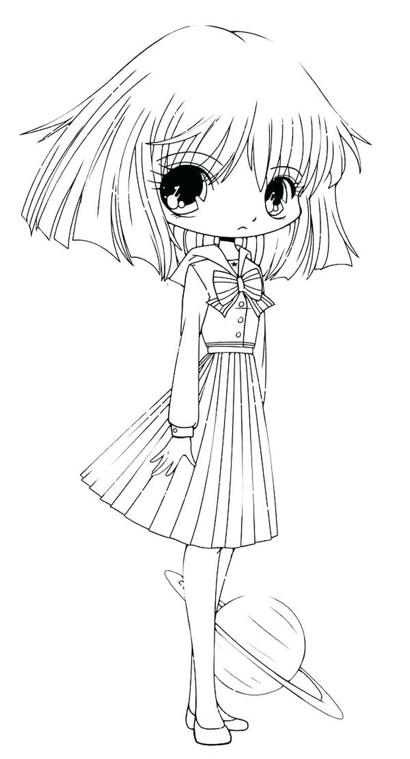 Anime Chibi Girl Coloring Pages free