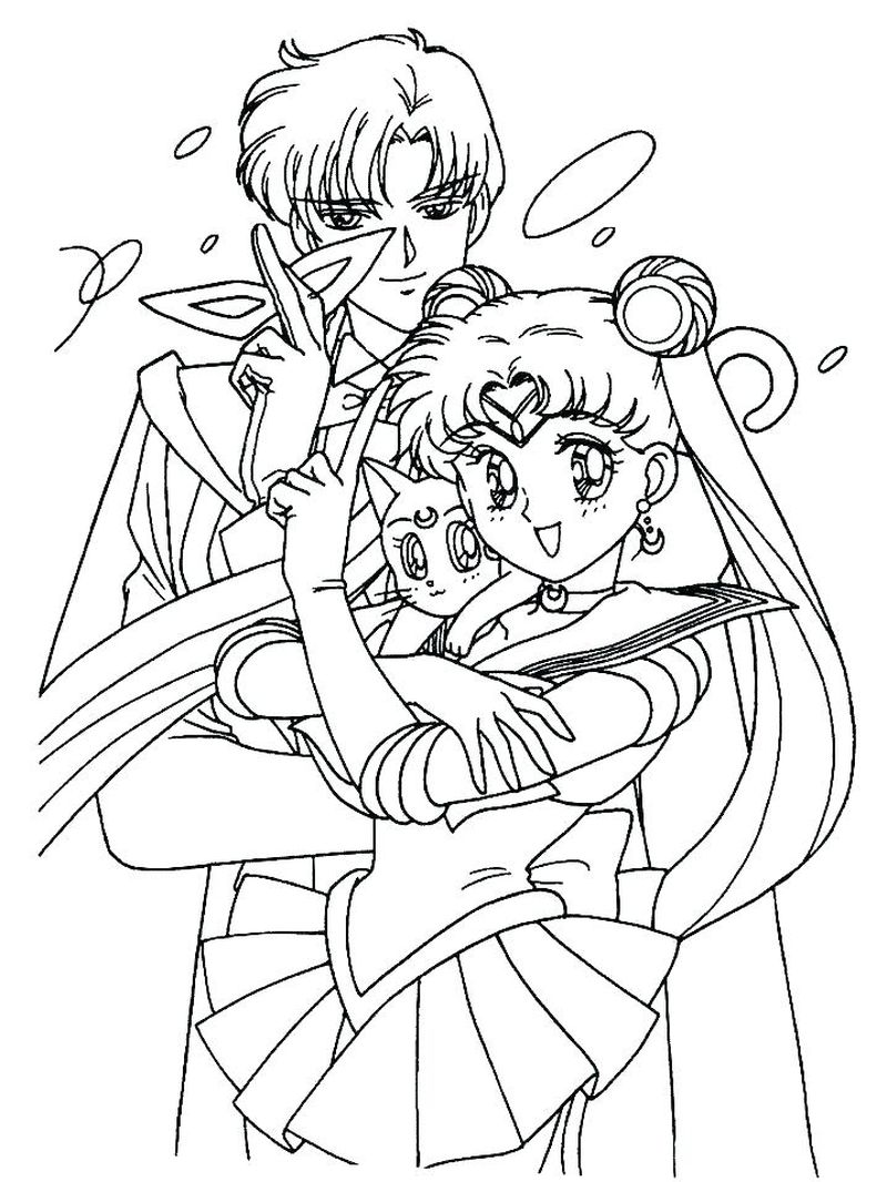 Anime Coloring Pages Sailor Moon free