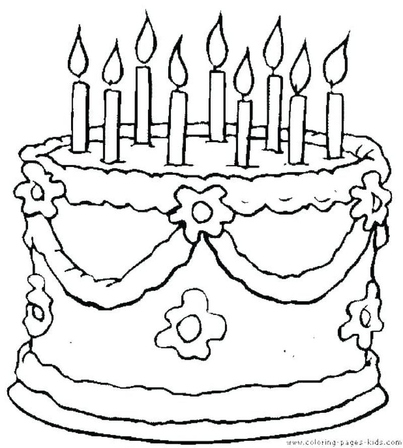 Ariel Coloring Pages Cake