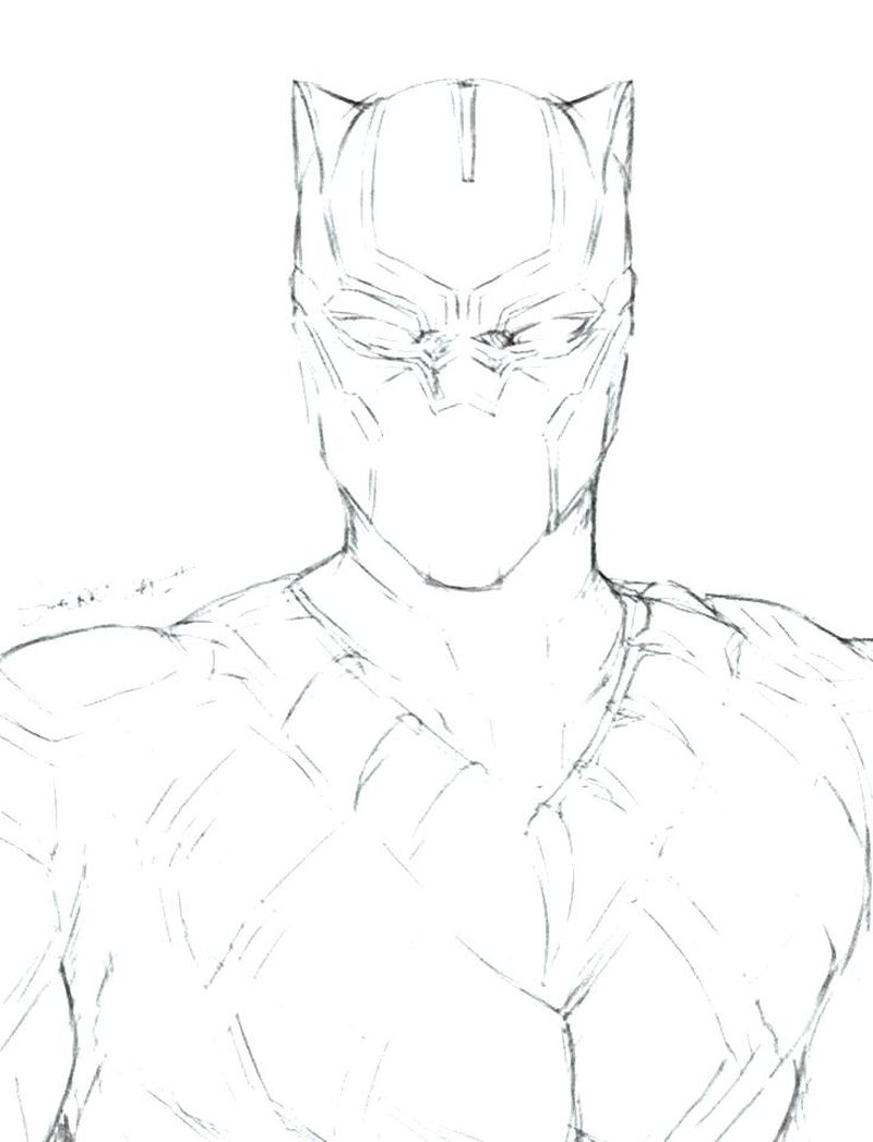 Avengers Assemble Black Panther Coloring Pages Print