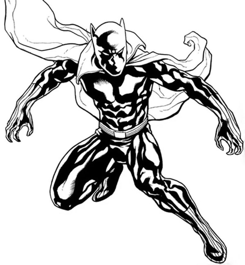 Avengers Black Panther Coloring Pages Print
