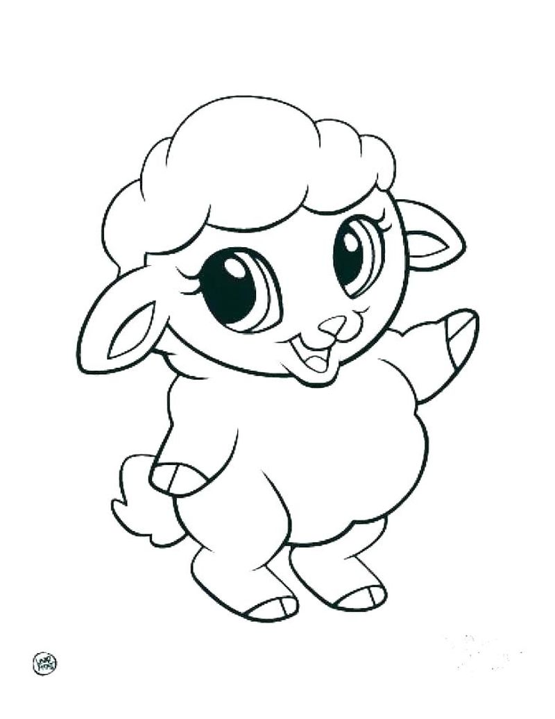 Baby Animal Cartoon Coloring Pages Free