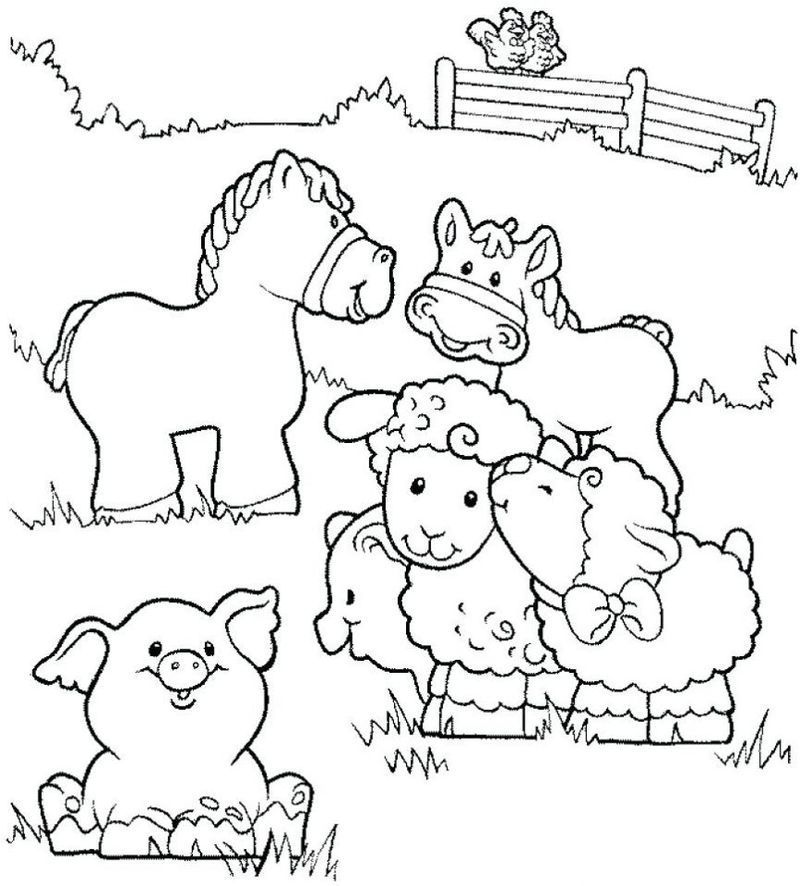 Baby Animal Coloring Pages Adults Pdf printable