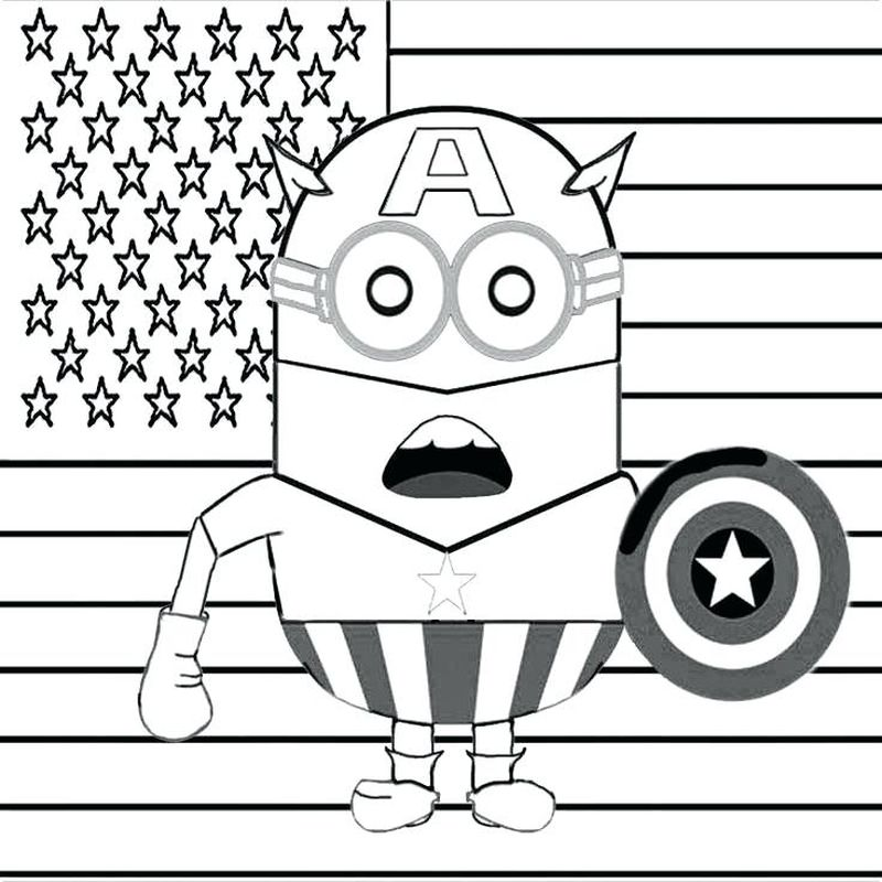 Baby Minions Coloring Pages Bob Free