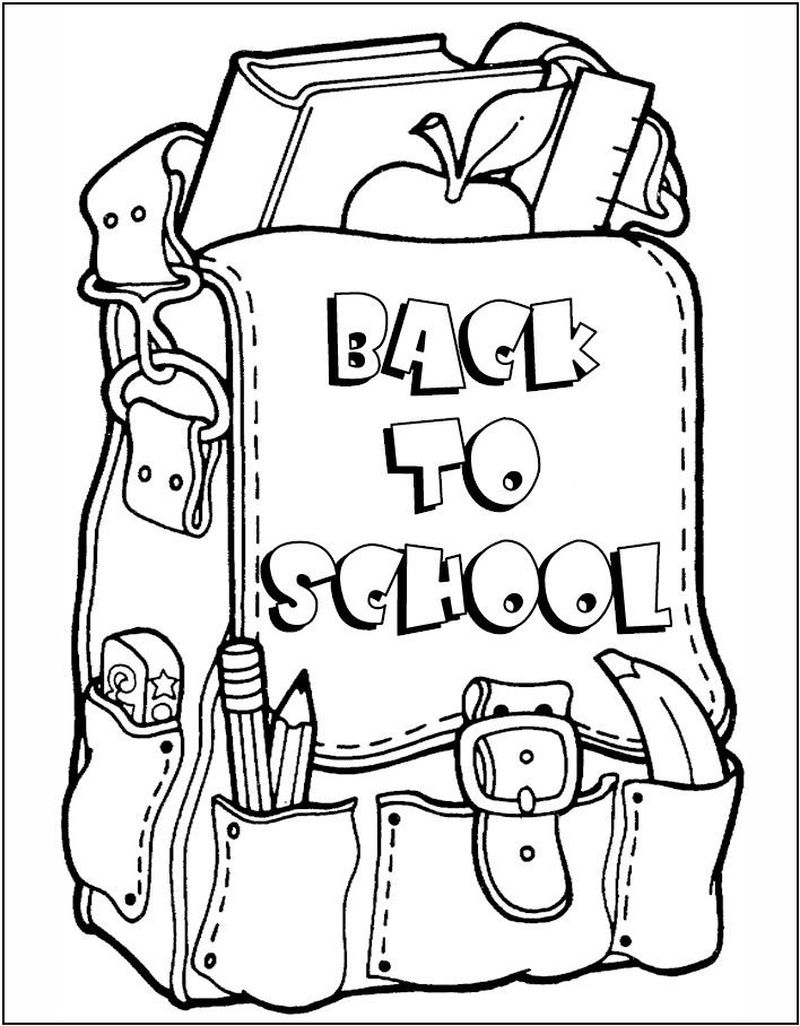 Back To School Coloring Pages Pdf 1