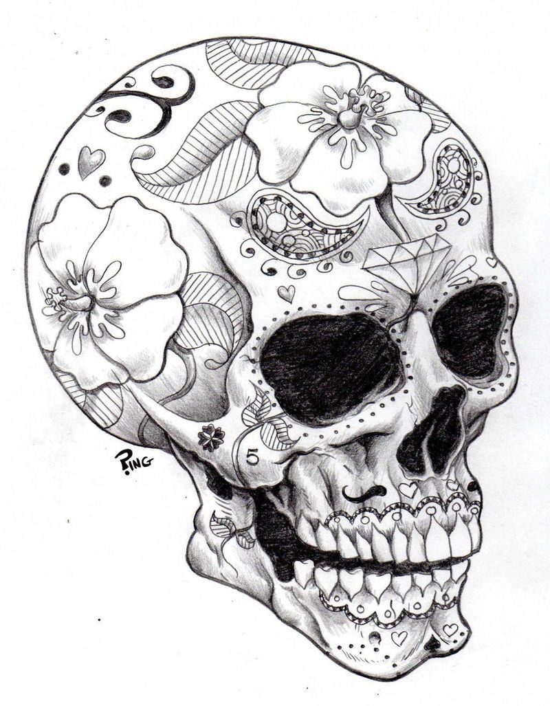 Badass Skull Coloring Pages