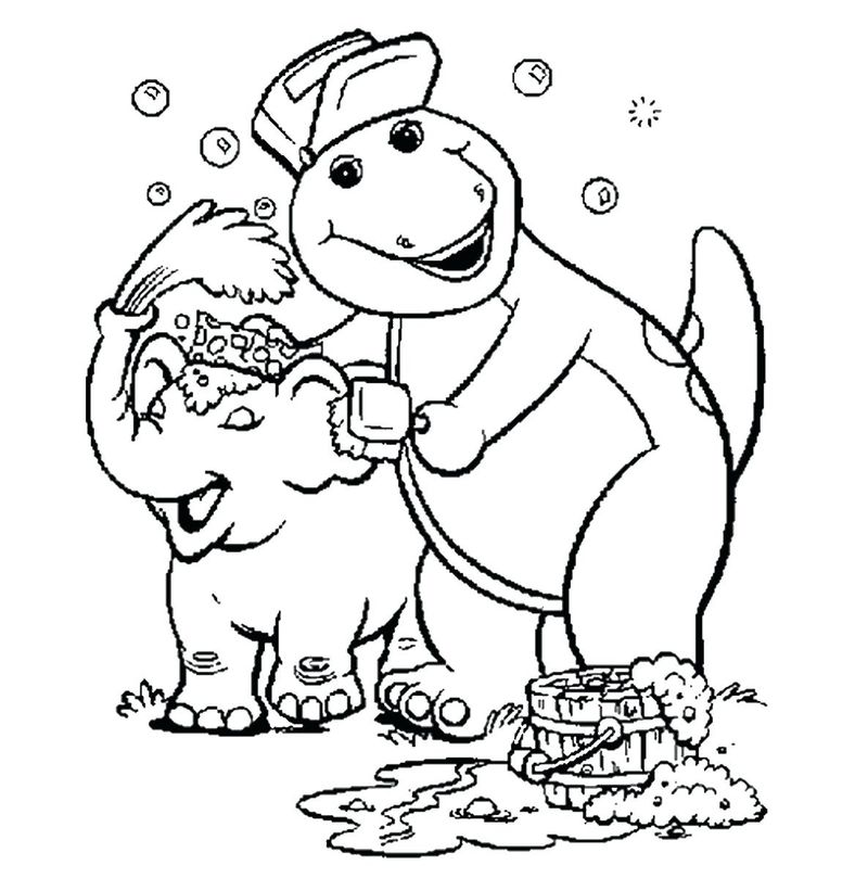 Barney Coloring Picture Printable