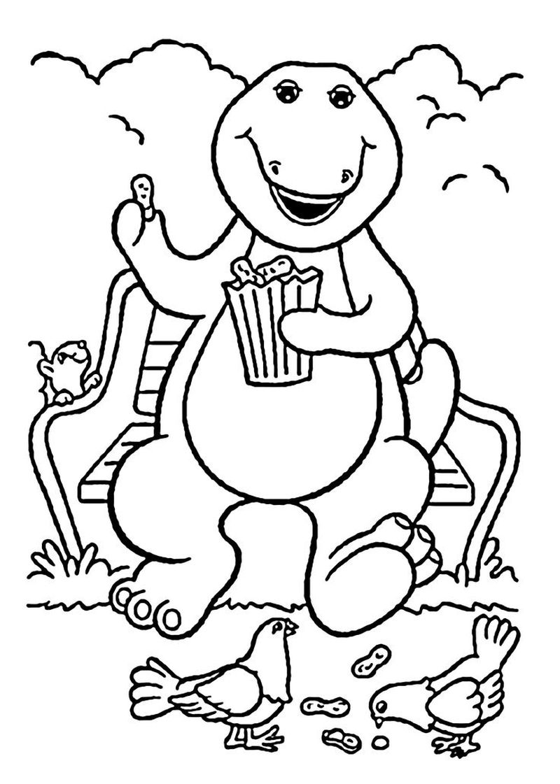 Barney Colouring Pictures Printable