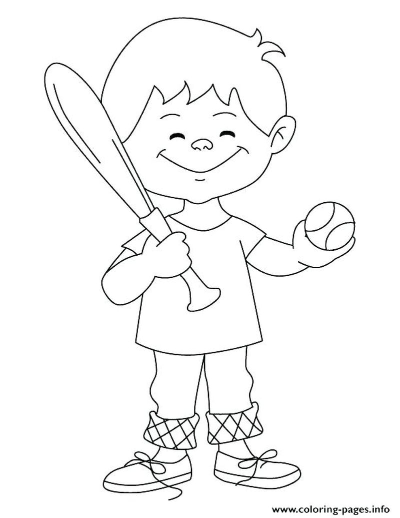 Baseball Coloring Pages For Kids