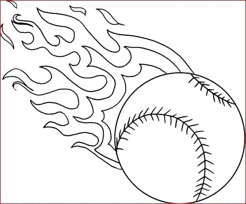 Baseball Coloring Pages Kids