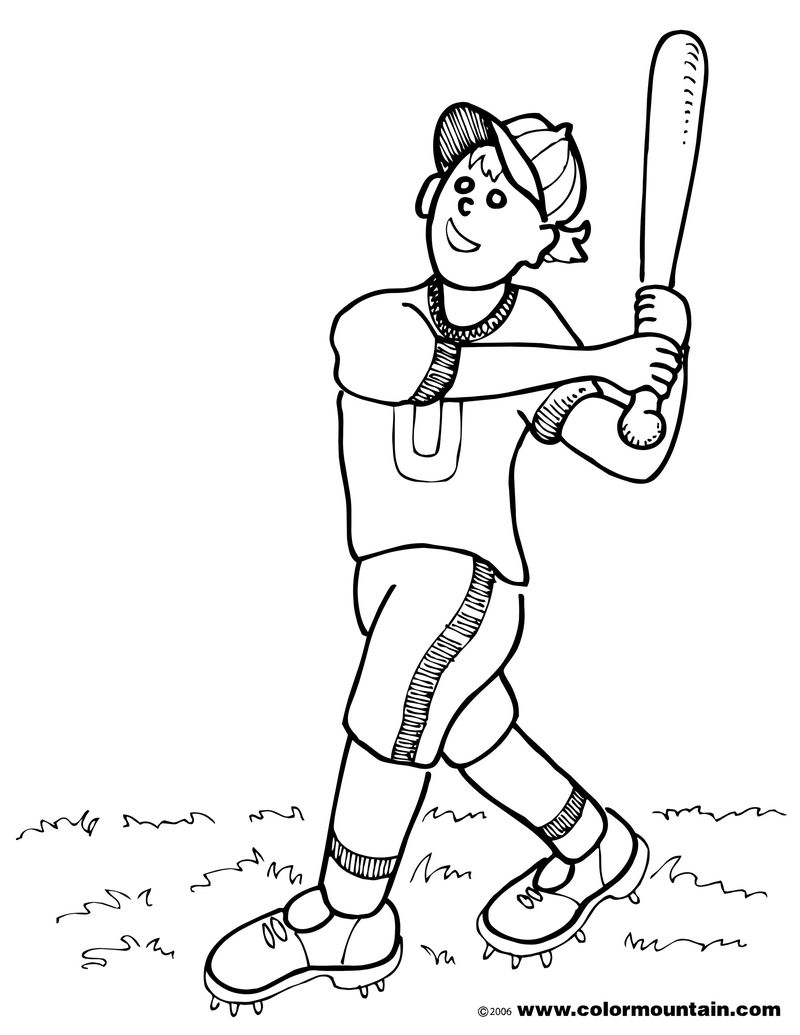 Baseball Coloring Pages Online