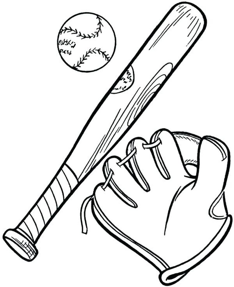 Baseball Players Coloring Pages