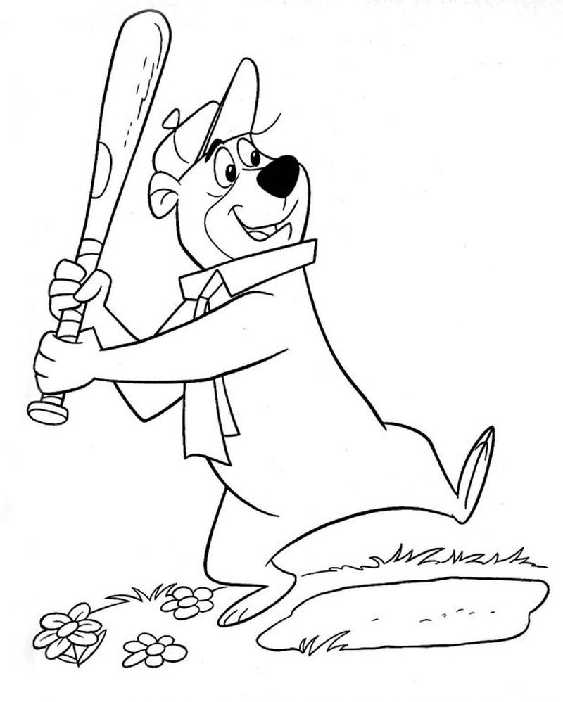 Baseball Team Coloring Pages Printable
