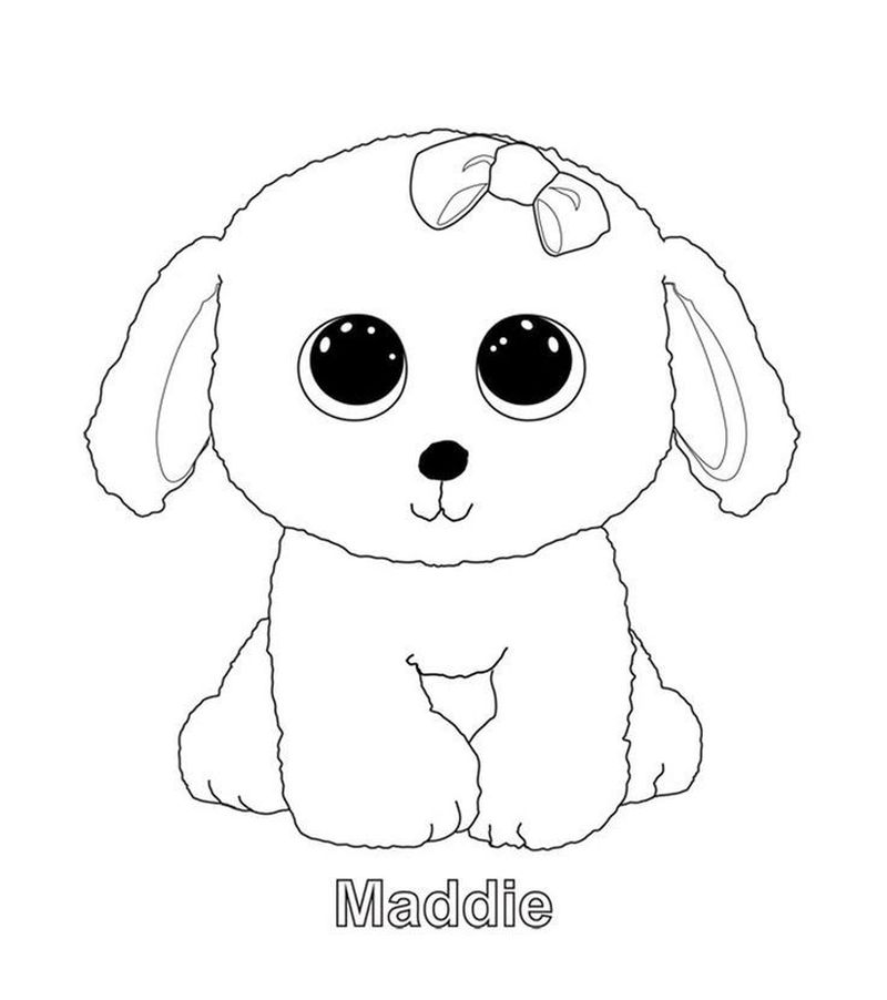 Beanie Boo Coloring Pages Cow