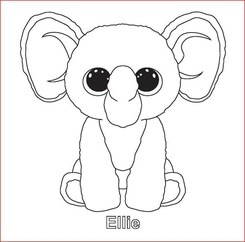 Beanie Boo Coloring Pages Ruby The Monkey