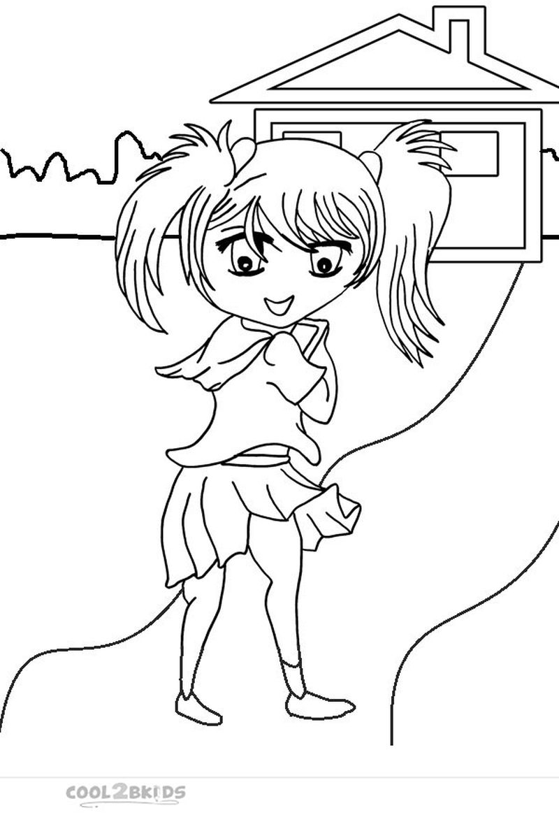 Belle Chibi Coloring Pages free