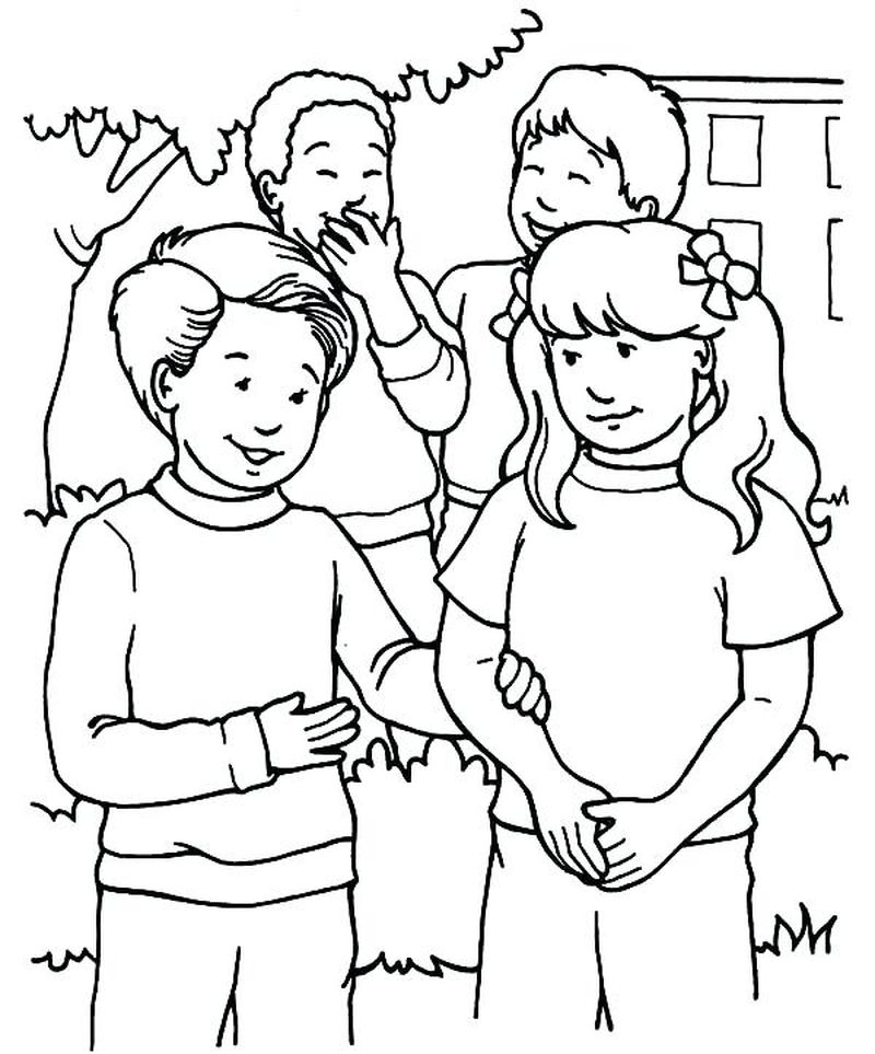 Best Friend Coloring Pages Anime free