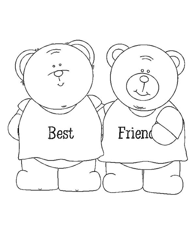 Best Friend Coloring Pages For Kids free