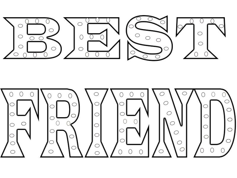 Best Friend Coloring Pages Printable