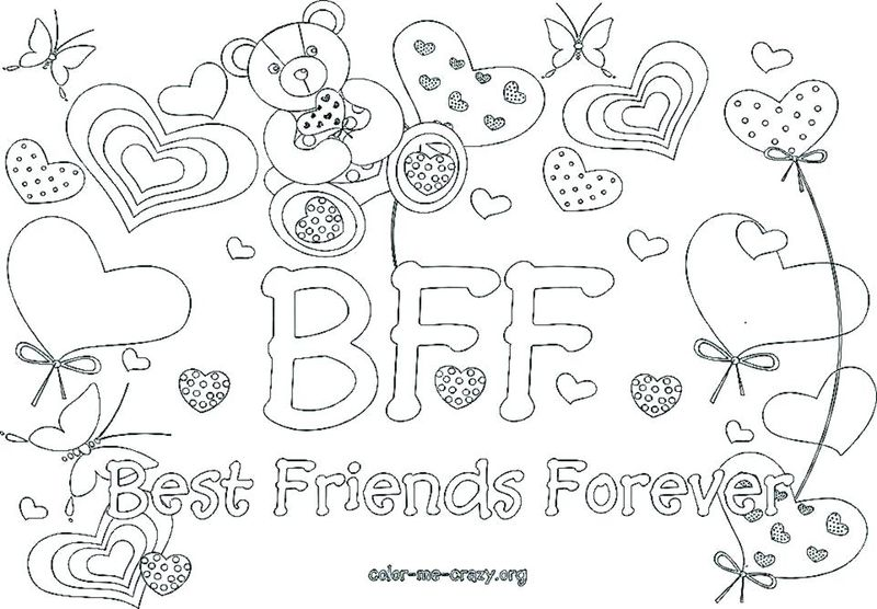 Best Friend Coloring Pages Teens