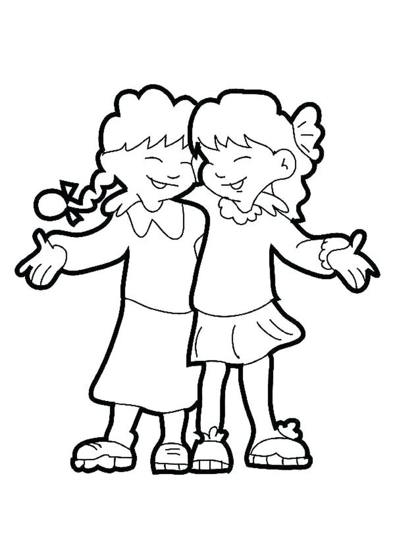 Best Friend Coloring Pages With Quote