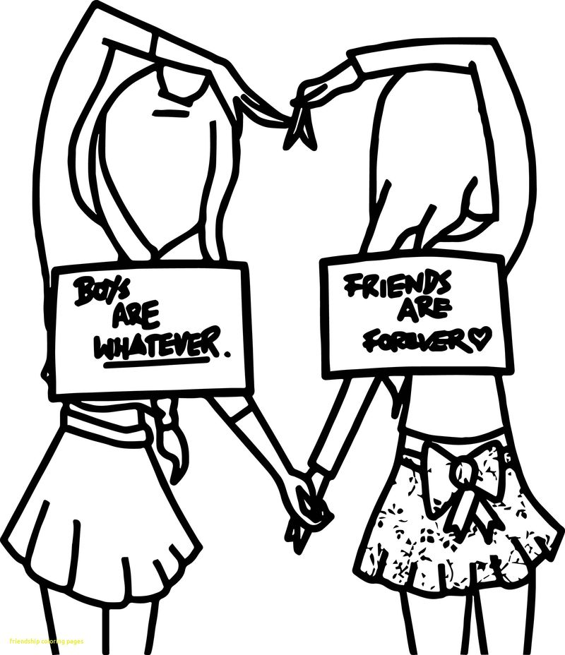 Best Friend Quotes Coloring Pages free