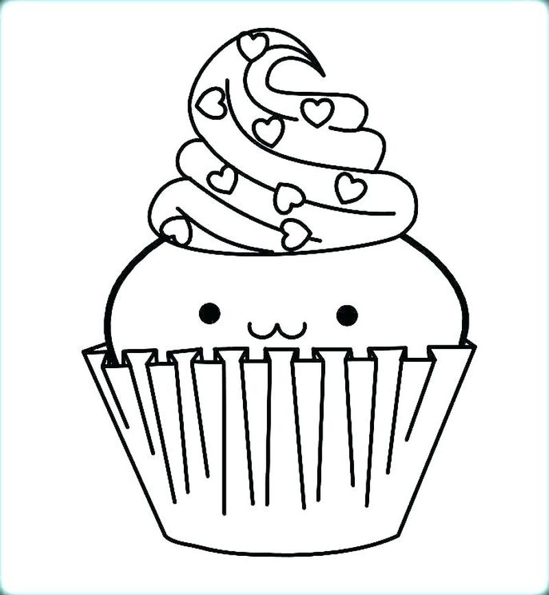 Birthday Cake Coloring Pages Layers